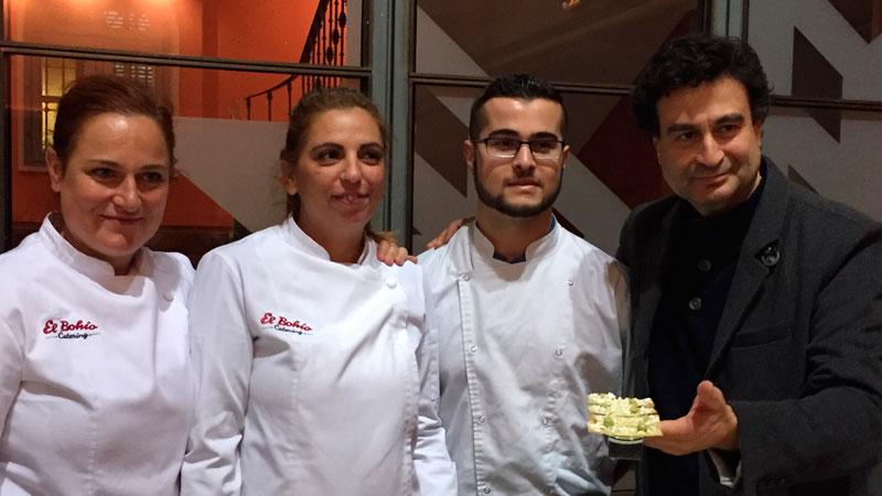 Pepe Rodríguez pone la nota gastronómica en el Teatro De Rojas con su obulato con palomitas