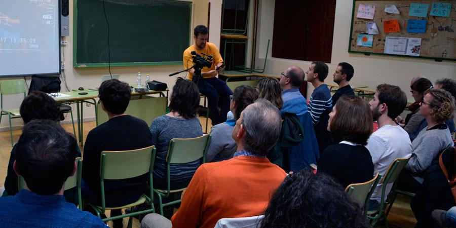 Uno de los cuatro talleres realizados durante la segunda jornada de Educación y Cine de CiBRA